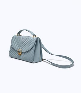 Chanel Navy 10″ Lambskin Flap Bag